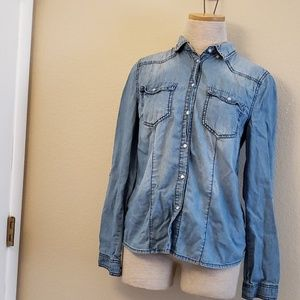 Highway Jeans blue button up shirt S